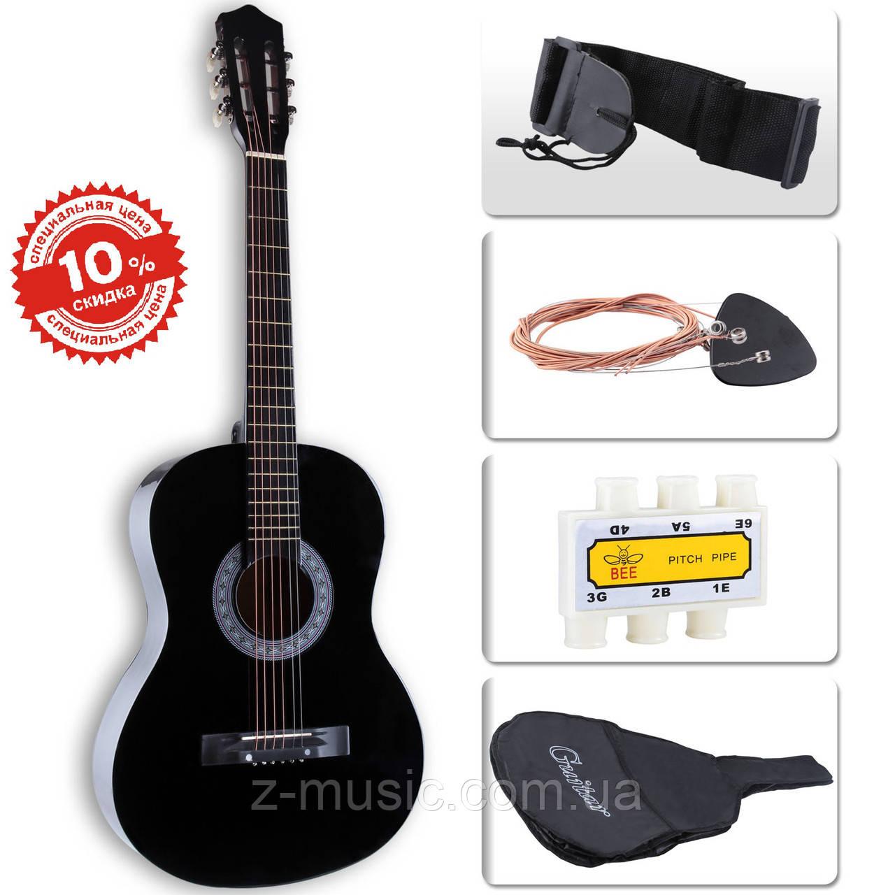 Гитара акустическая LAGRIMA (чехол+тюнер+струны+ремень)