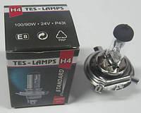 Лампа H4 24V 100/90W галогенная (Цоколь P 43t ) (Tes-lamps)
