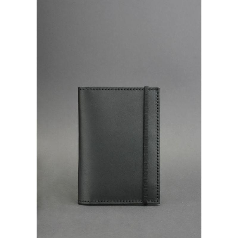 Кожаная обложка для паспорта 2.0 черная
