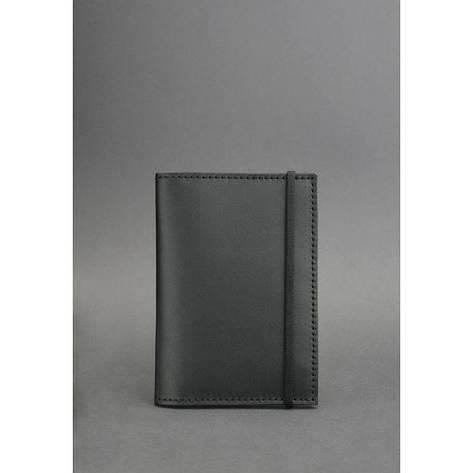 Кожаная обложка для паспорта 2.0 черная, фото 2