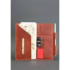 Кожаный женский тревел-кейс 3.0 светло-коричневый с мандалой, фото 2