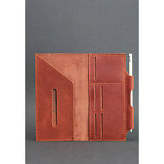Кожаный женский тревел-кейс 3.0 светло-коричневый с мандалой, фото 3