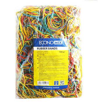 Резинки для денег 1000гр цветные Economix E41503
