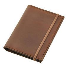 Кожаная обложка для паспорта 2.0 темно-коричневая, фото 2