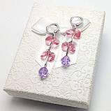Великолепные серьги с подвижными Кристаллами Swarovski, фото 2
