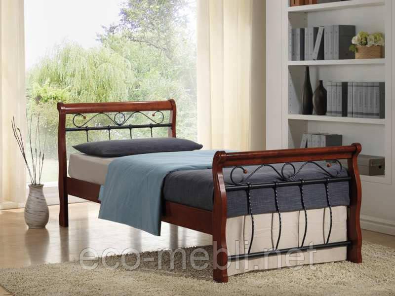 Односпальне металеве ліжко Venecja Bis 90 Signal