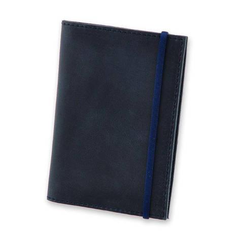 Кожаная обложка для паспорта 1.0 синяя, фото 2