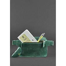 Кожаная поясная сумка Dropbag Mini зеленая, фото 3