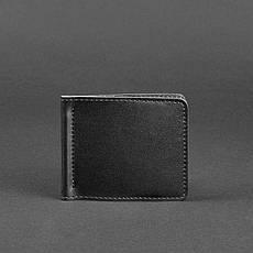 Мужское кожаное портмоне черное Краст 1.0 зажим для денег, фото 3