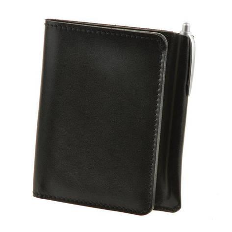 Кожаное портмоне 2.0 угольно-черное, фото 2