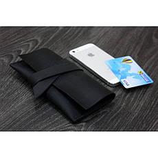 Кожаный чехол для смартфона черный, фото 3