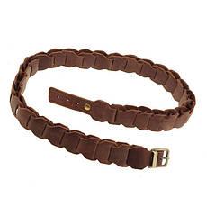 Женский кожаный бохо-ремень темно-коричневый, фото 3