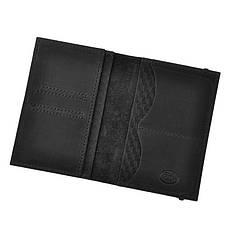 Кожаная обложка для паспорта 2.0 Карбон черная, фото 2