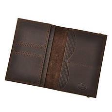 Кожаная обложка для паспорта 2.0 Карбон темно-коричневая, фото 2