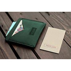 Кожаная визитница 5.0 зеленая, фото 3