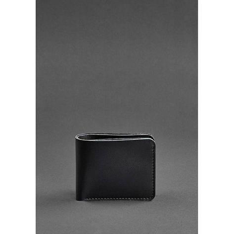 Мужское кожаное портмоне 4.1 (4 кармана) угольно-черное, фото 2