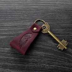 Кожаный брелок Перо, фото 3
