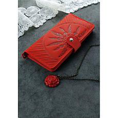 Кожаное женское коралловое портмоне 7.0 Инди, фото 2