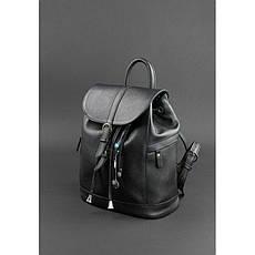 Кожаный женский рюкзак Олсен черный, фото 3