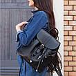 Кожаный женский рюкзак Олсен черный, фото 4