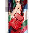 Кожаный женский рюкзак Олсен красный, фото 2
