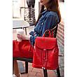 Кожаный женский рюкзак Олсен красный, фото 3