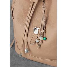 Кожаный женский рюкзак Олсен светло-бежевый, фото 3
