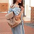 Кожаный женский рюкзак Олсен светло-бежевый, фото 5