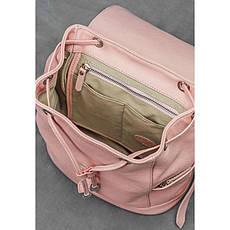Кожаный женский рюкзак Олсен розовый, фото 3