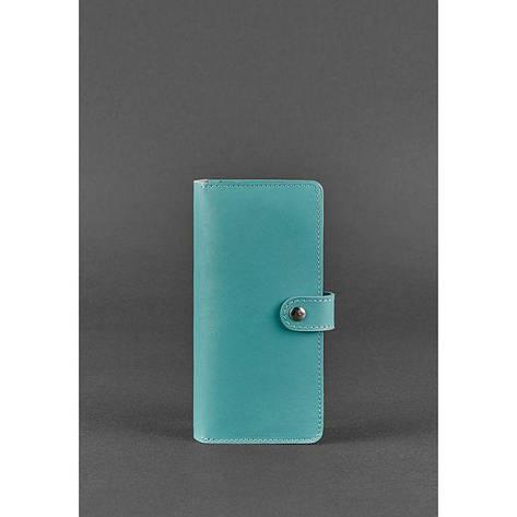 Кожаное женское портмоне 7.0 бирюзовое, фото 2