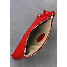Женская кожаная косметичка красная, фото 2