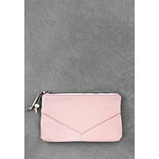 Женская кожаная косметичка розовая, фото 3