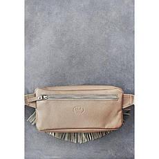 Кожаная женская сумка на пояс Spirit светло-бежевая, фото 2