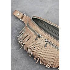 Кожаная женская сумка на пояс Spirit светло-бежевая, фото 3