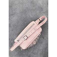 Шкіряна жіноча сумка на пояс Spirit рожевий, фото 3