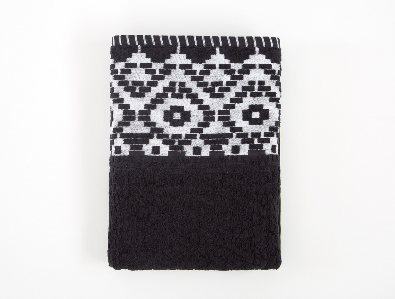 Полотенце Irya Jakarli - New Wall siyah черный 70*130