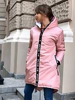 Женская теплая курточка с капюшоном Philipp Plein(коп) батал