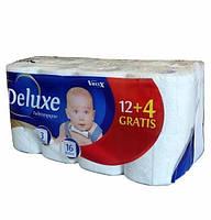 Бумага туалетная DELUX 3-х сл. 16 рулонов