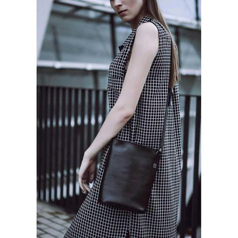 Женская кожаная сумка-кроссбоди черная Blank - Black Point, фото 2