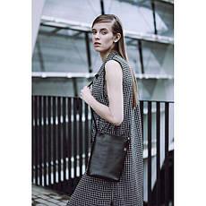 Женская кожаная сумка-кроссбоди черная Blank - Black Point, фото 3