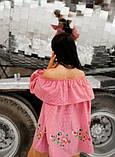 Свободная блуза в мелкую красную клетку, фото 2