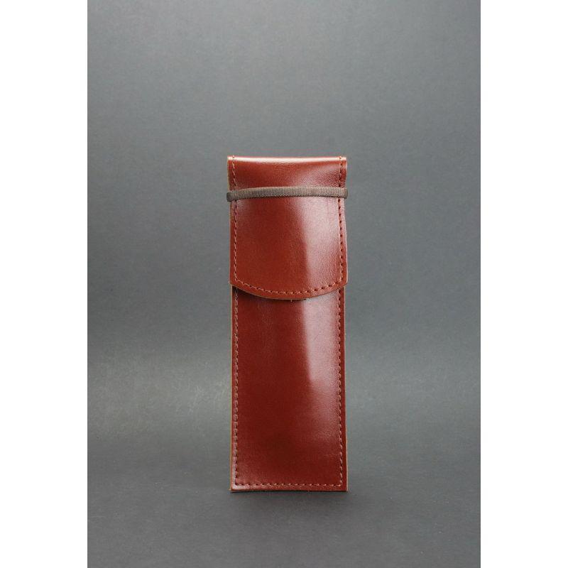 Кожаный чехол для ручек 1.0 светло-коричневый