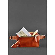 Кожаная поясная сумка Dropbag Mini светло-коричневая, фото 3