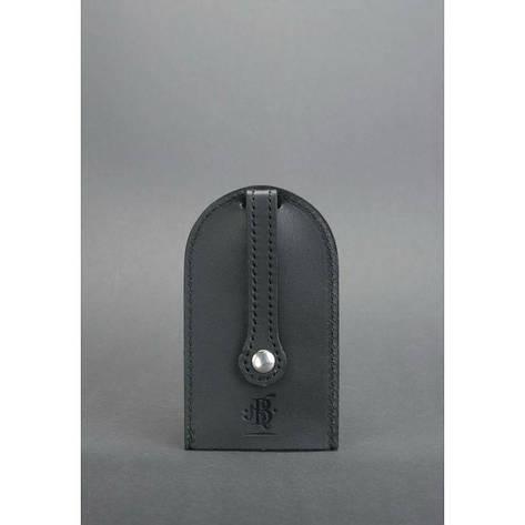 Кожаная ключница 2.0 черная, фото 2