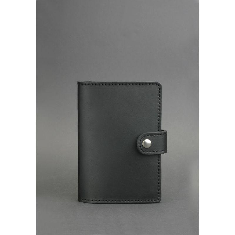 Кожаная обложка для паспорта 3.0 черная