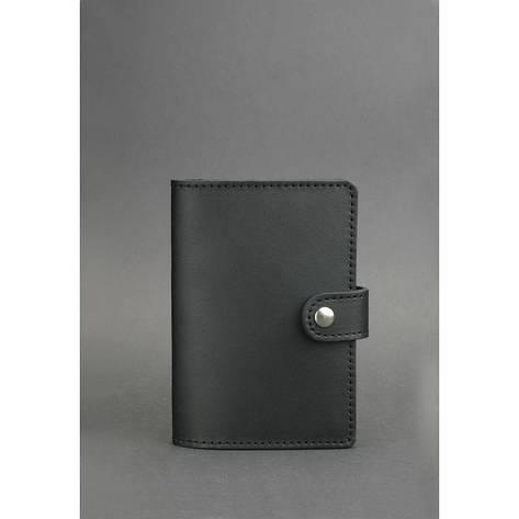 Кожаная обложка для паспорта 3.0 черная, фото 2