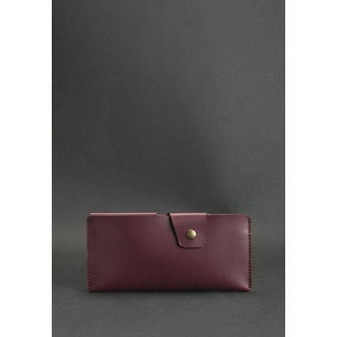 Женское кожаное портмоне-купюрник 8.0 бордовое, фото 2