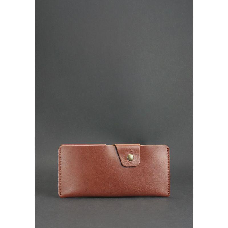 Кожаное портмоне-купюрник 8.0 светло-коричневое