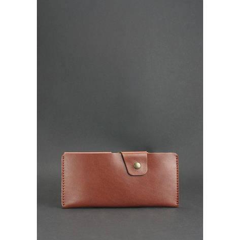 Кожаное портмоне-купюрник 8.0 светло-коричневое, фото 2