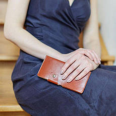 Кожаное портмоне-купюрник 8.0 светло-коричневое, фото 3